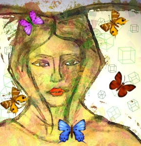 she attracted butterflies