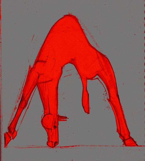 crab horse red